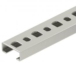 CL2008 profile rail, slot 11 mm, A2, perforated