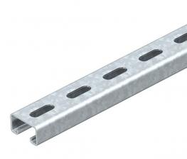 MS4121 mounting rail, slot 22 mm, FS, perforated
