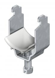 Clamp clip, single, plastic pressure trough, FT