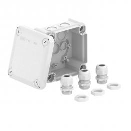 T 60 junction box, with knock-out entries and 3 x V-TEC VM20 + locknuts