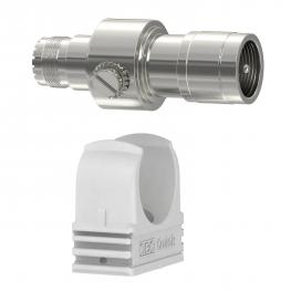 Coaxial protection devices for S-UHF connection: male/female