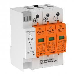 PV combination arrester V50, 600 V DC with remote signalling