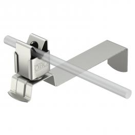 Roof conductor holder for tiled roofs, angled, Rd 8