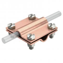 Cross-connector Rd 8−10 mm Cu