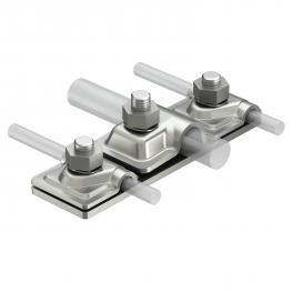 Connection plate for two isCon® conductors