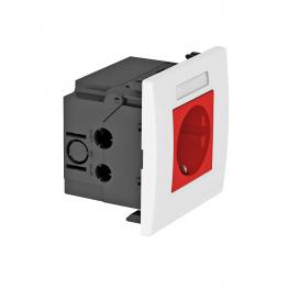 AR45 socket unit, single, with labelling panel for horizontal device installation
