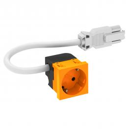Socket 33°, Connect 45, protective contact, single, pure orange