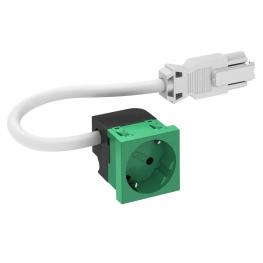 Socket 33°, Connect 45, protective contact, single, mint green