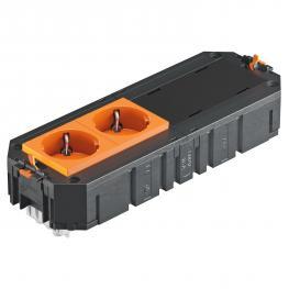 UTC4 with 2 protective contact sockets, orange