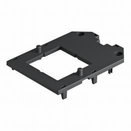 Cover plate for universal support UT3 and UT4, with installation opening for EKR device, with screw fastening