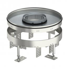Height-adjustable heavy-duty cassette for tube body RKFRSL, nominal size R7, stainless steel