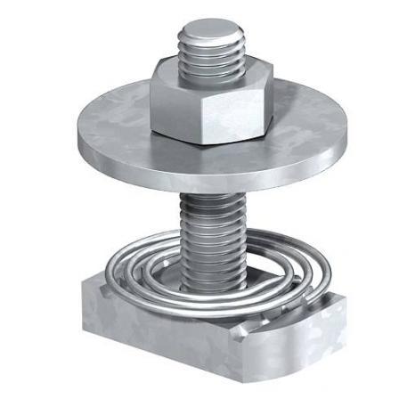 Hammer-head bolt with spring A4