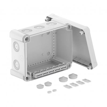 Junction box X 16 with terminal strip