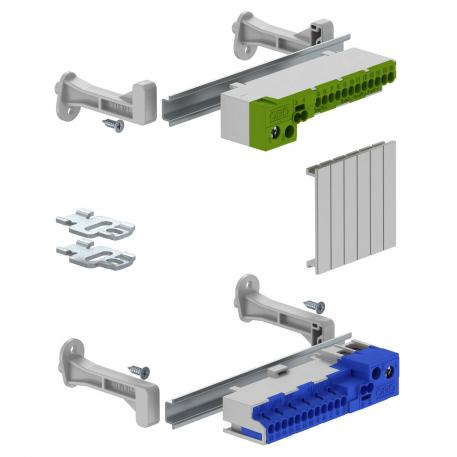 Terminal strip set with screwless terminals for SDB 03