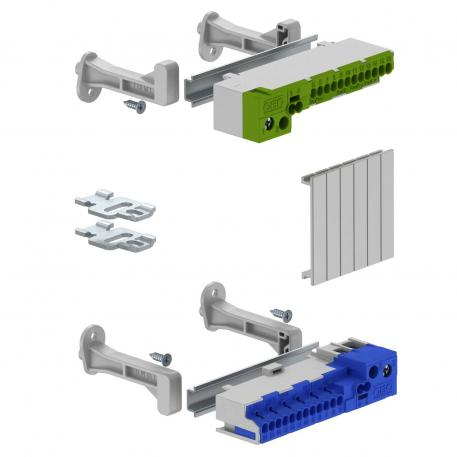 Terminal strip set with screwless terminals for SDB 05