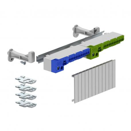 Terminal strip set with screwless terminals for SDB 09