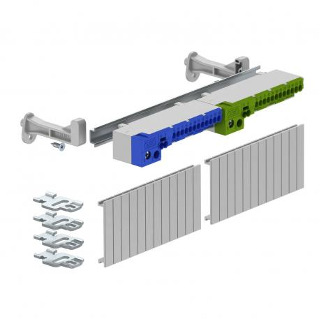 Terminal strip set with screwless terminals for SDB 12