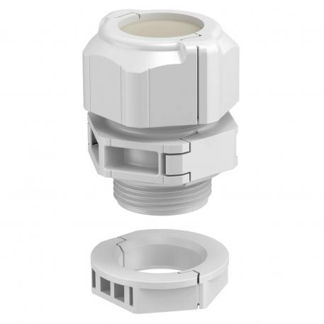 Divisible cable gland, seal insert enclosed, light grey