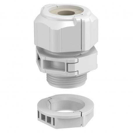 Divisible cable gland, seal insert, 1 cable, light grey
