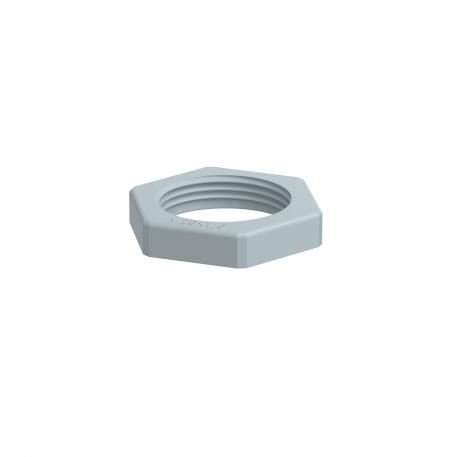 Locknut, metric thread, silver grey