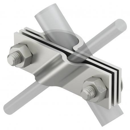 Connection clip for earthing rod, universal