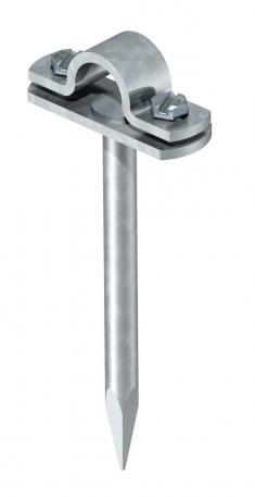Rod holder, 16 mm, with square pin