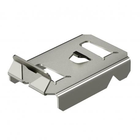Hold-down clamp for barrier strip fastening