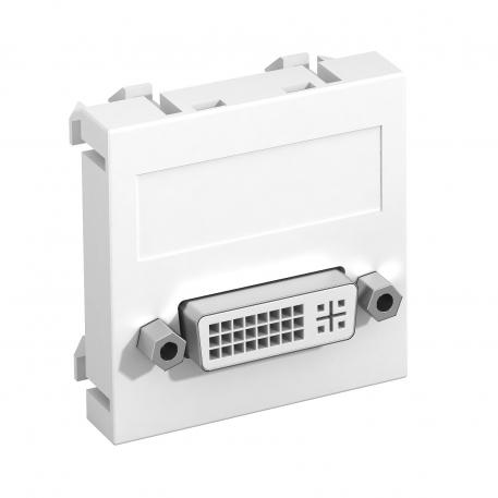 DVI-D connection, 1 module, straight outlet, as screw connection