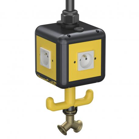 HoverCube VH-4, 4x earthing pin socket, with compressed air connection