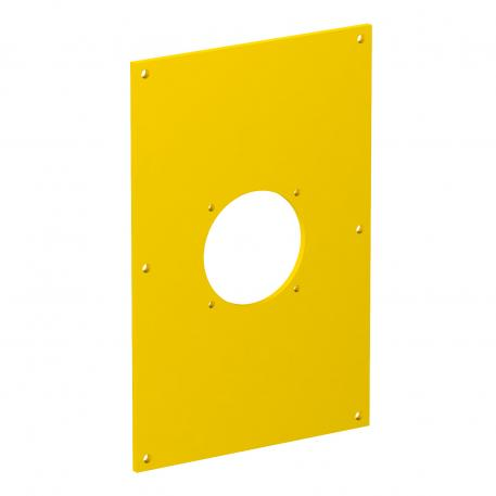 VHF cover plate, with fastening system