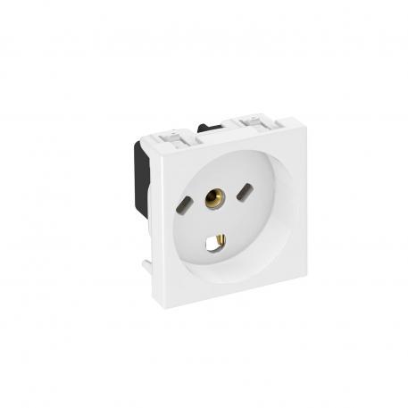 0° socket, Denmark, single, IT-encoded