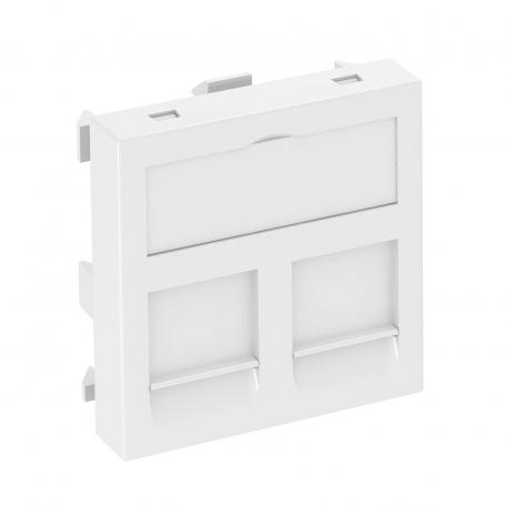 Data technology support, 1 module, straight outlet, type RM