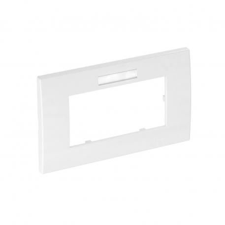 AR45 cover frame, double, with labelling panel for horizontal device installation