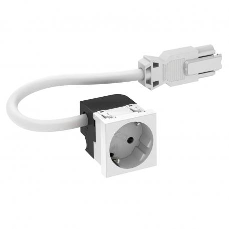 Socket 33°, Connect 45, protective contact, single