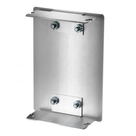 End piece aluminium, trunking height 90 mm