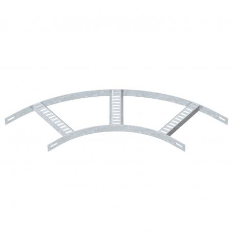 90° bend with trapezoidal rung, light-duty FT