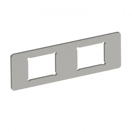 Mounting plate 2 x data socket type C for System 55