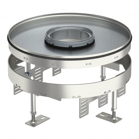 Height-adjustable heavy-duty cassette for tube body RKFRSL, nominal size R9, stainless steel