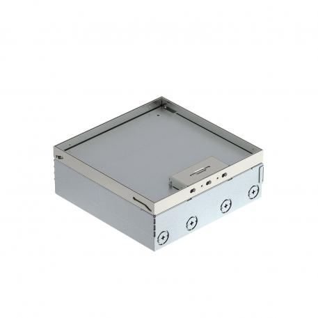 UDHOME9 floor box, freely equippable, stainless steel